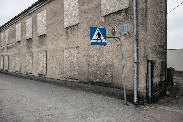 Polen Fussgängerüberweg